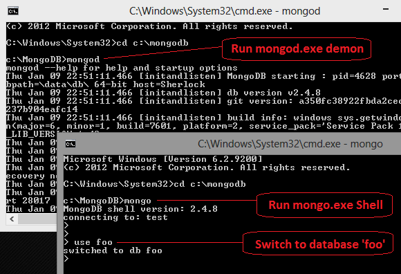 MongoDB-part4-mongo-startup-session-cmd